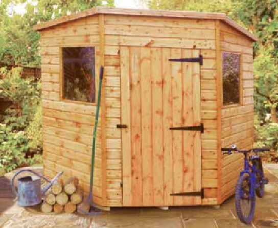 7' wide x 7' deep deal Bewdley Corner shed